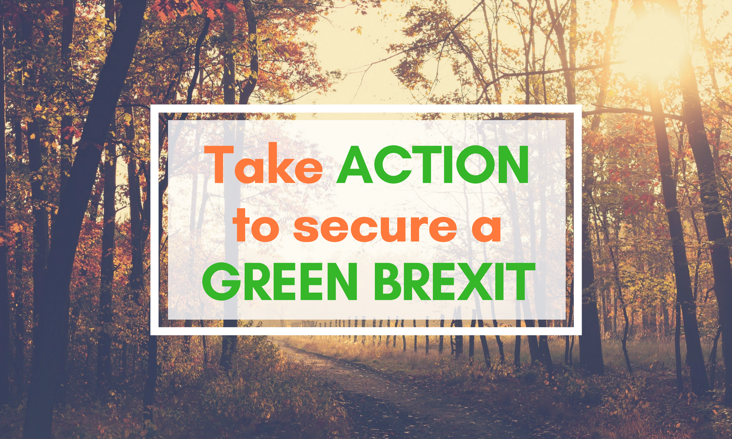 Take action to secure a green Brexit