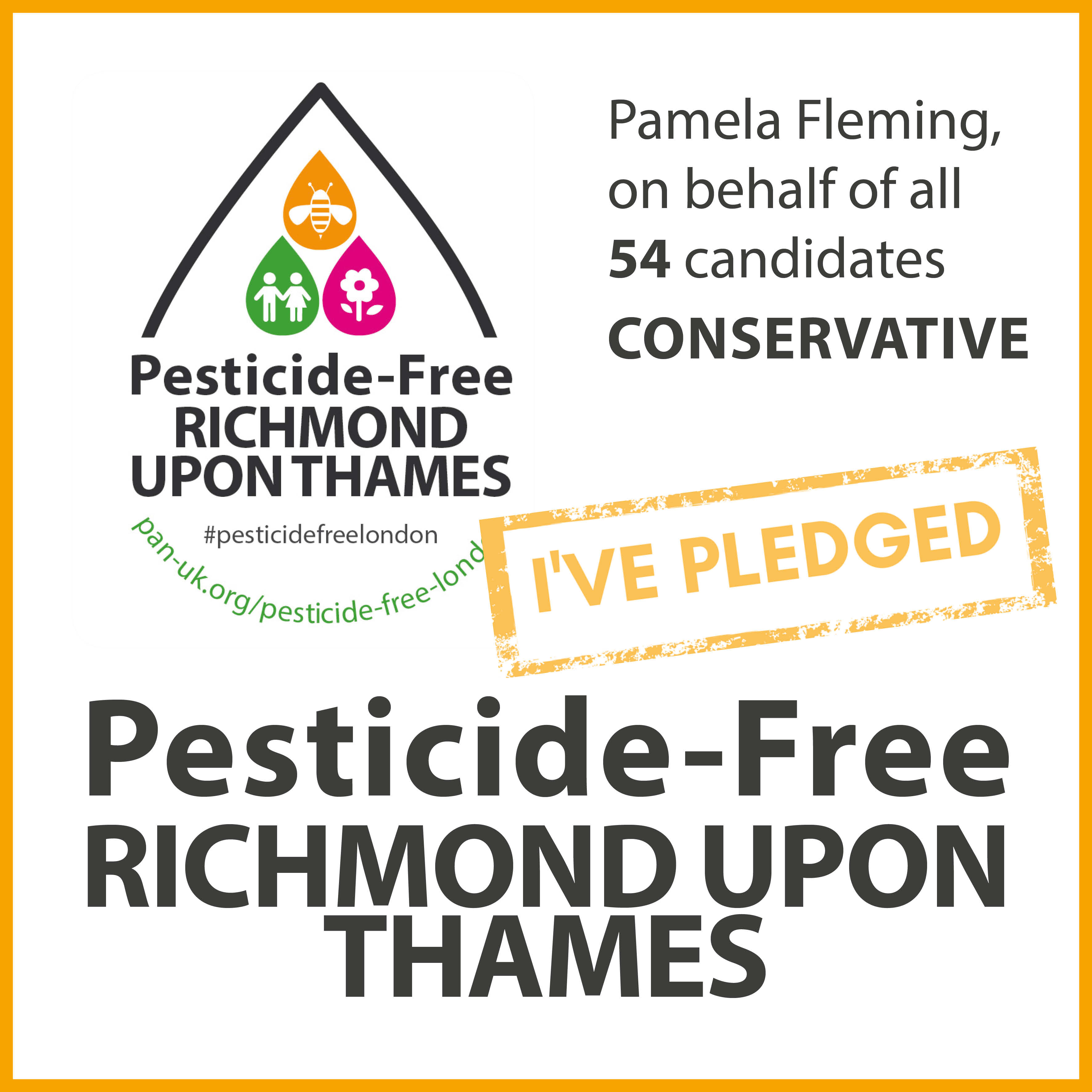 All 54 Conservative candidates have taken the pesticide-free pledge in Richmond