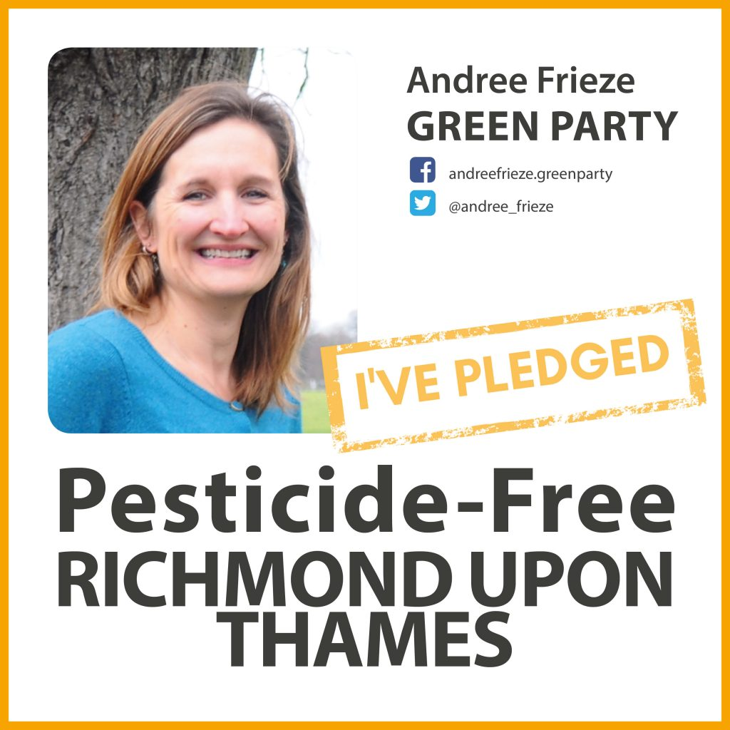 Andree Frieze has pledged to make Richmond pesticide-free