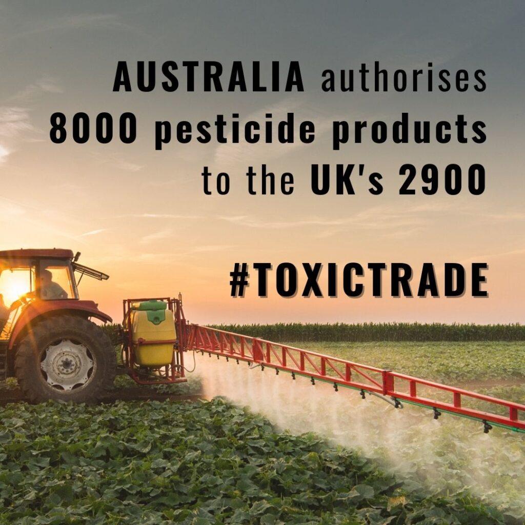 Australia authorises 8000 pesticide products to the UK's 2900