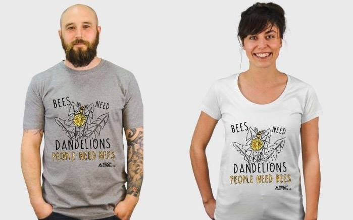 Support us by buying one of our Bees Need Dandelions tshirts