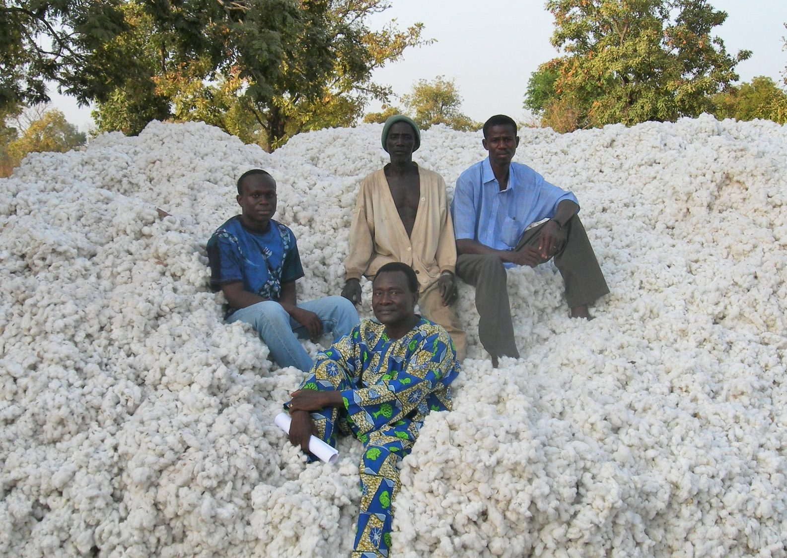 A cotton market in Benin, West Africa
