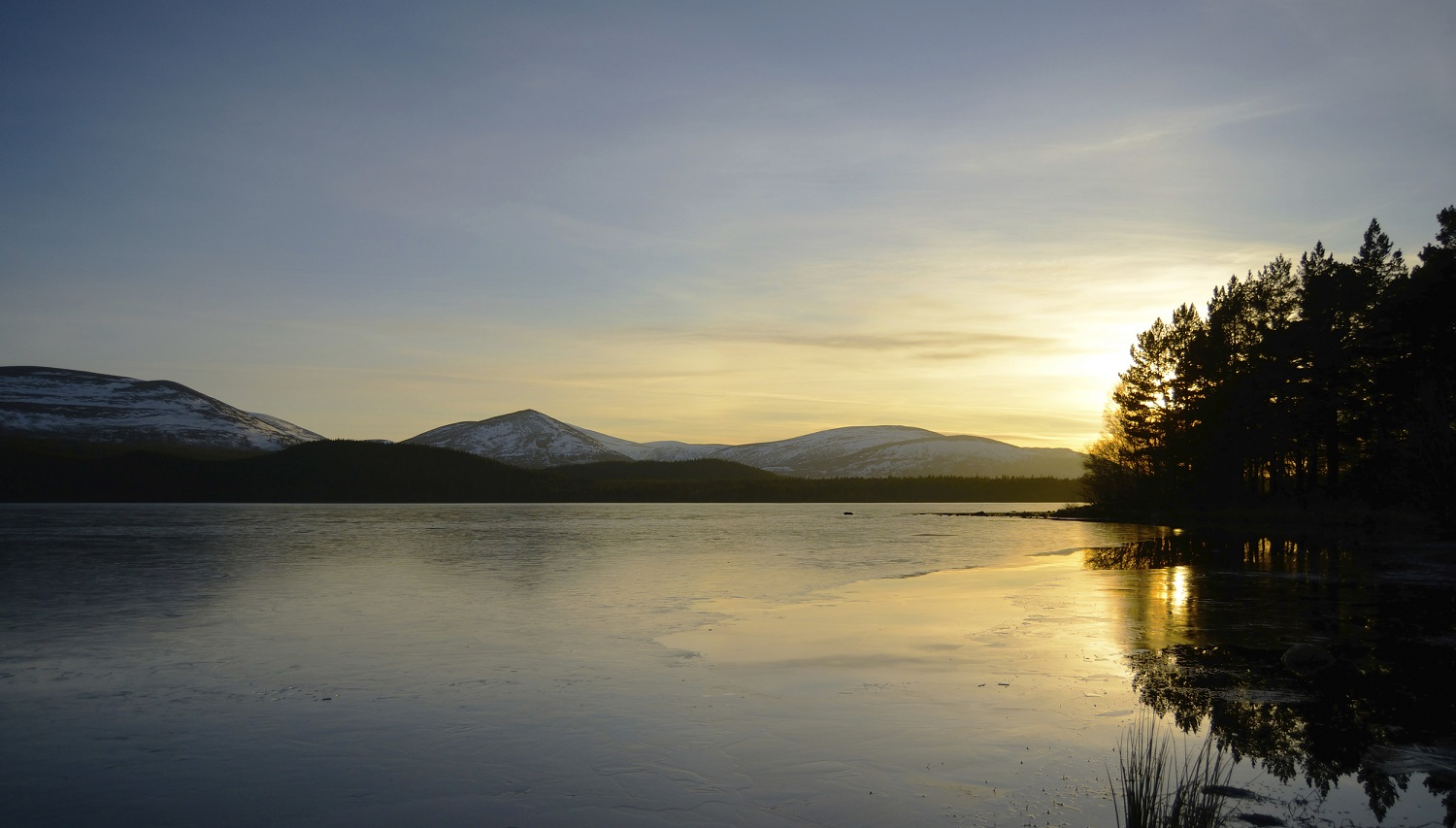 Loch at sunset, Cairngorms National Park, Scotland by Ben Andrew (RSPB Images)