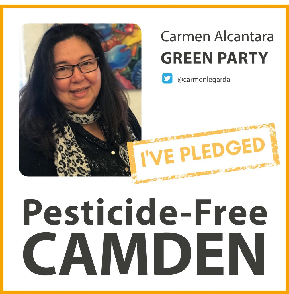 Carmen Alcantara has taken the pesticide-free pledge in Camden