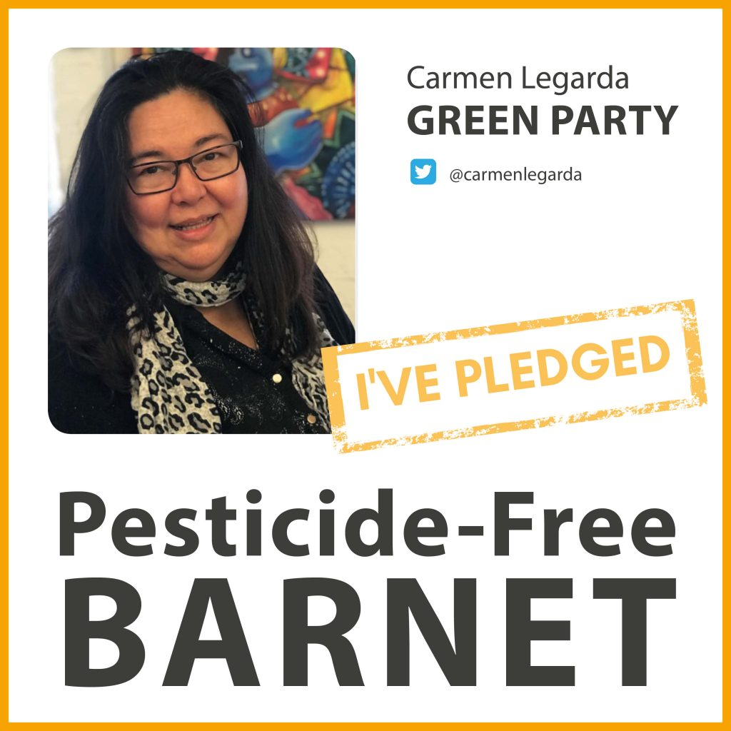 Carmen Legarda has pledged to make Barnet pesticide-free