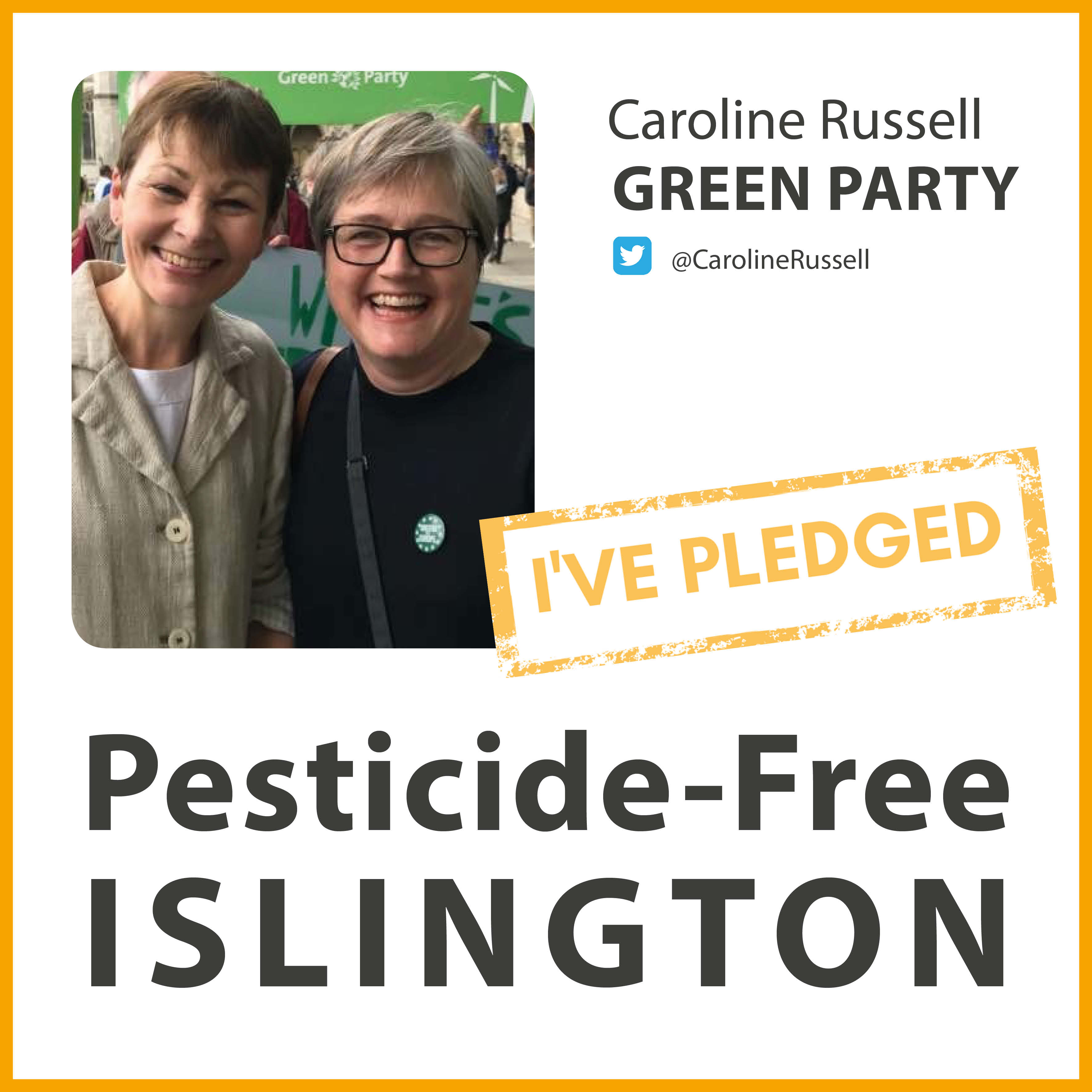 Caroline Russell has taken the pesticide-free pledge in Islington
