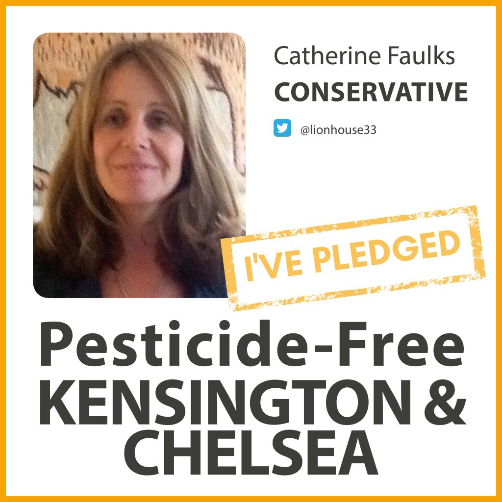 Catherine Faulks has taken the pesticide-free pledge in Kensington & Chelsea