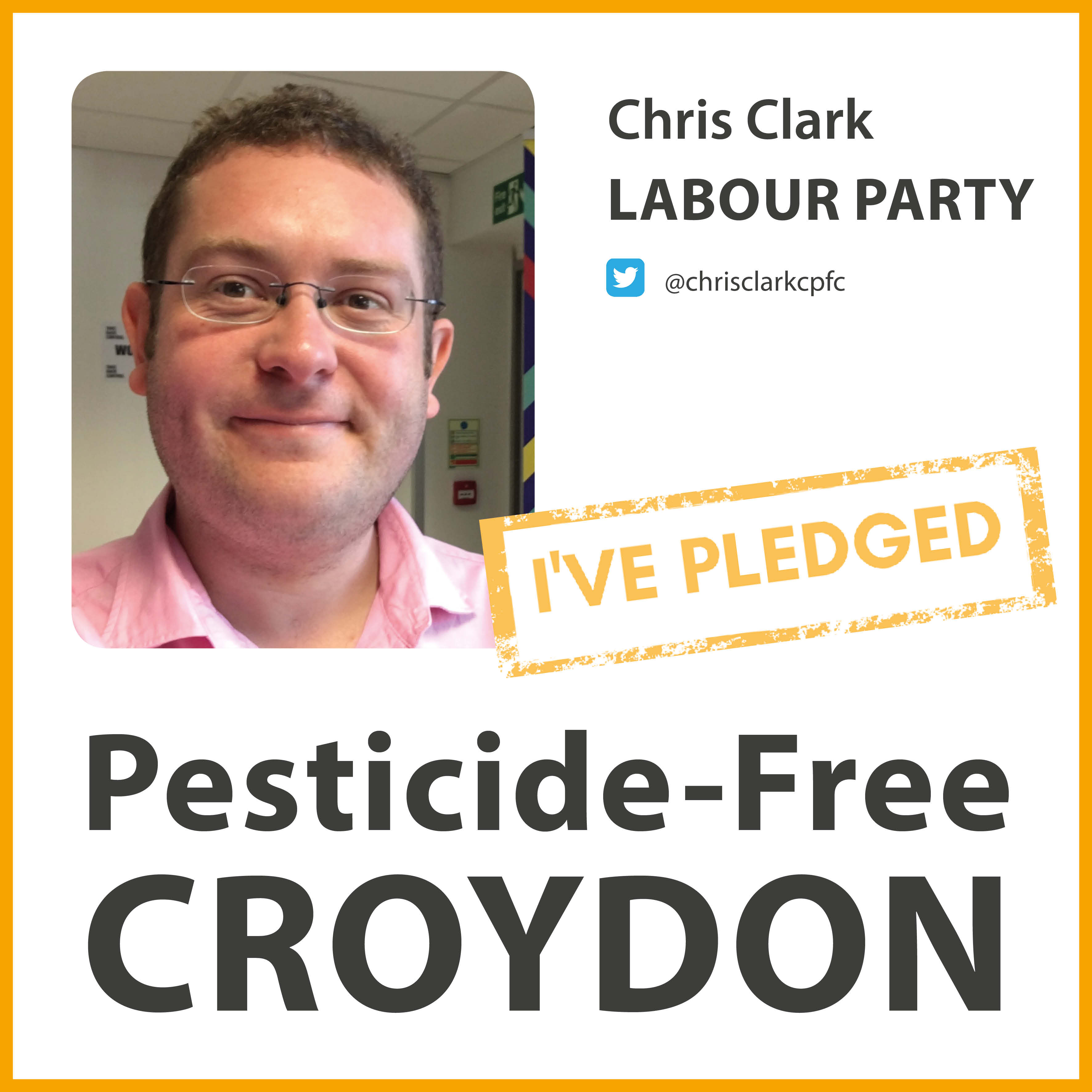 Chris Clark has taken the pesticide-free pledge in Croydon