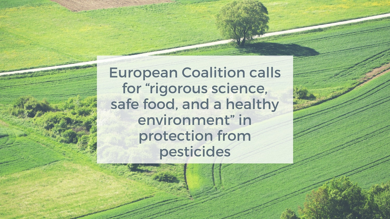 Coalition calls for pesticide regulation