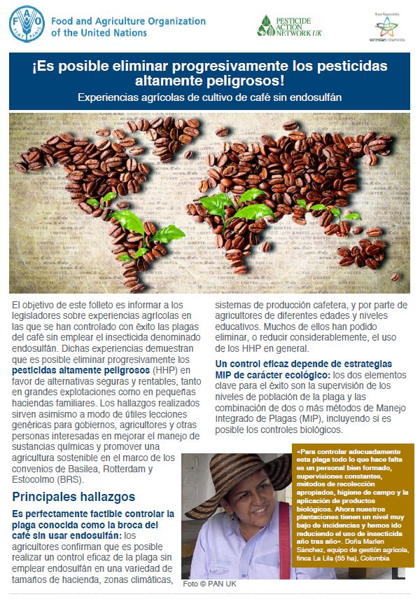 Coffee without endosulfan - Spanish