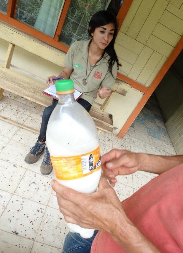 PAN UK with coffee farmer in Costa Rica