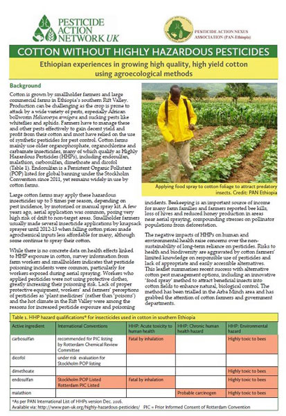 Cotton without highly hazardous pesticides - an Ethiopian experience