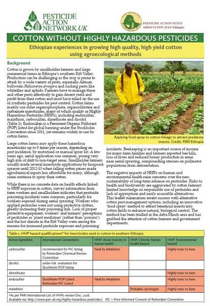 Cotton without highly hazardous pesticides - an Ethiopian experience