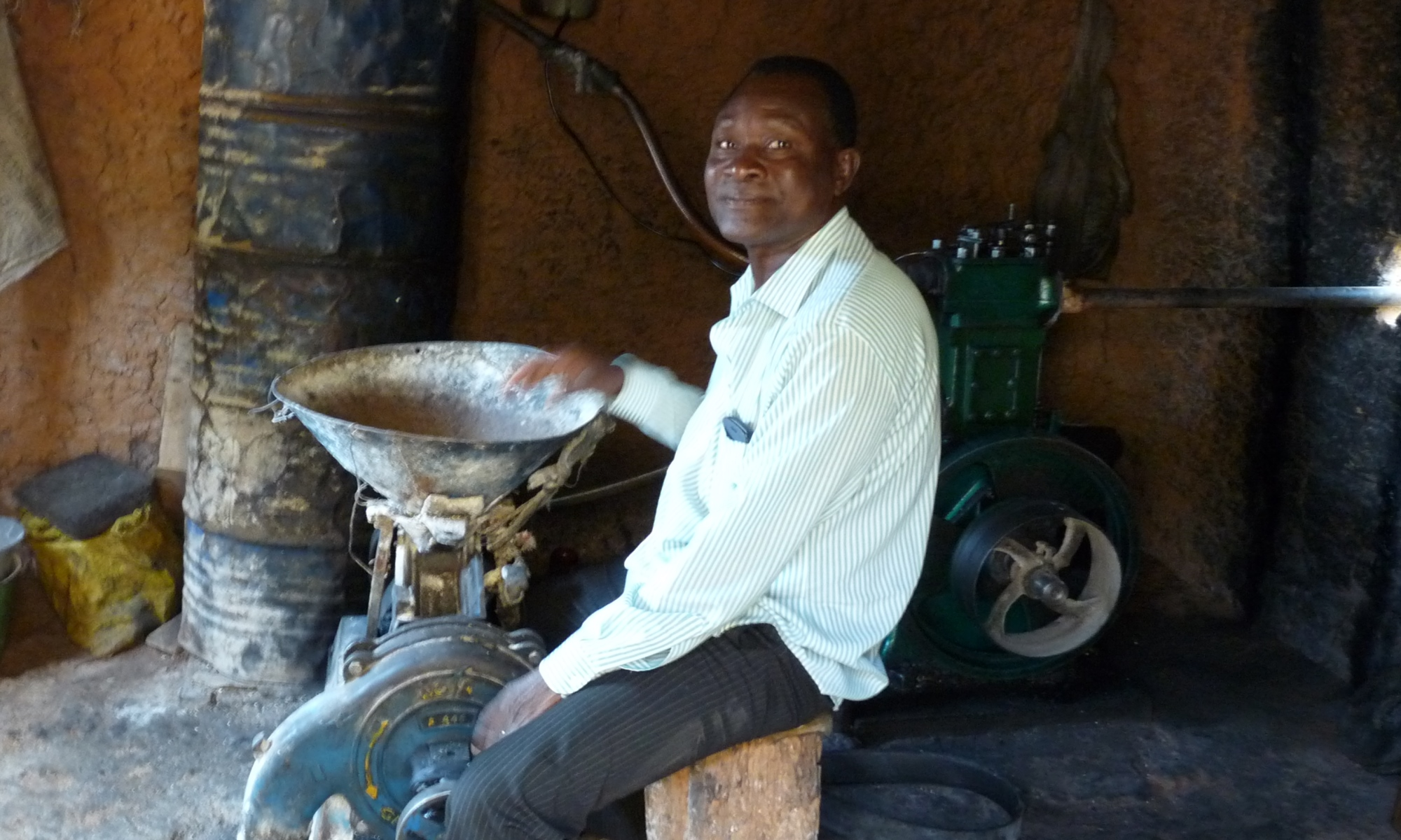 Farmer milling to diversify his income