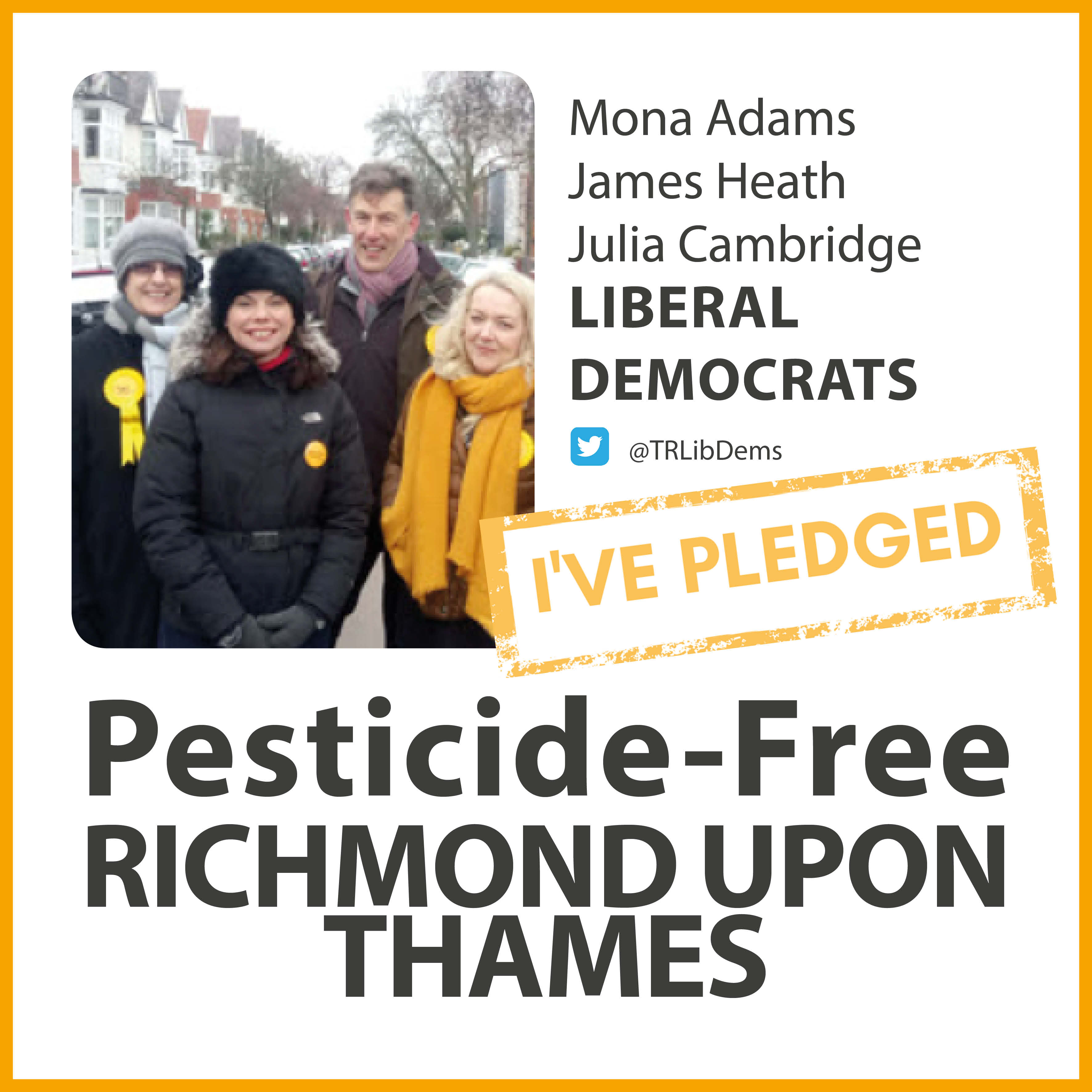 East Sheen Lib Dems have taken the pesticide-free pledge