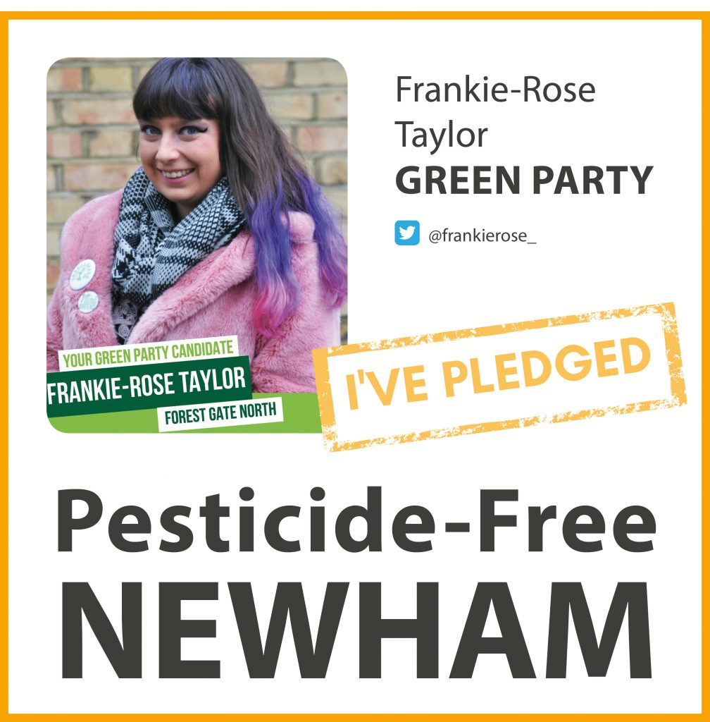 Frankie-Rose Taylor has taken the pesticide-free pledge in Newham