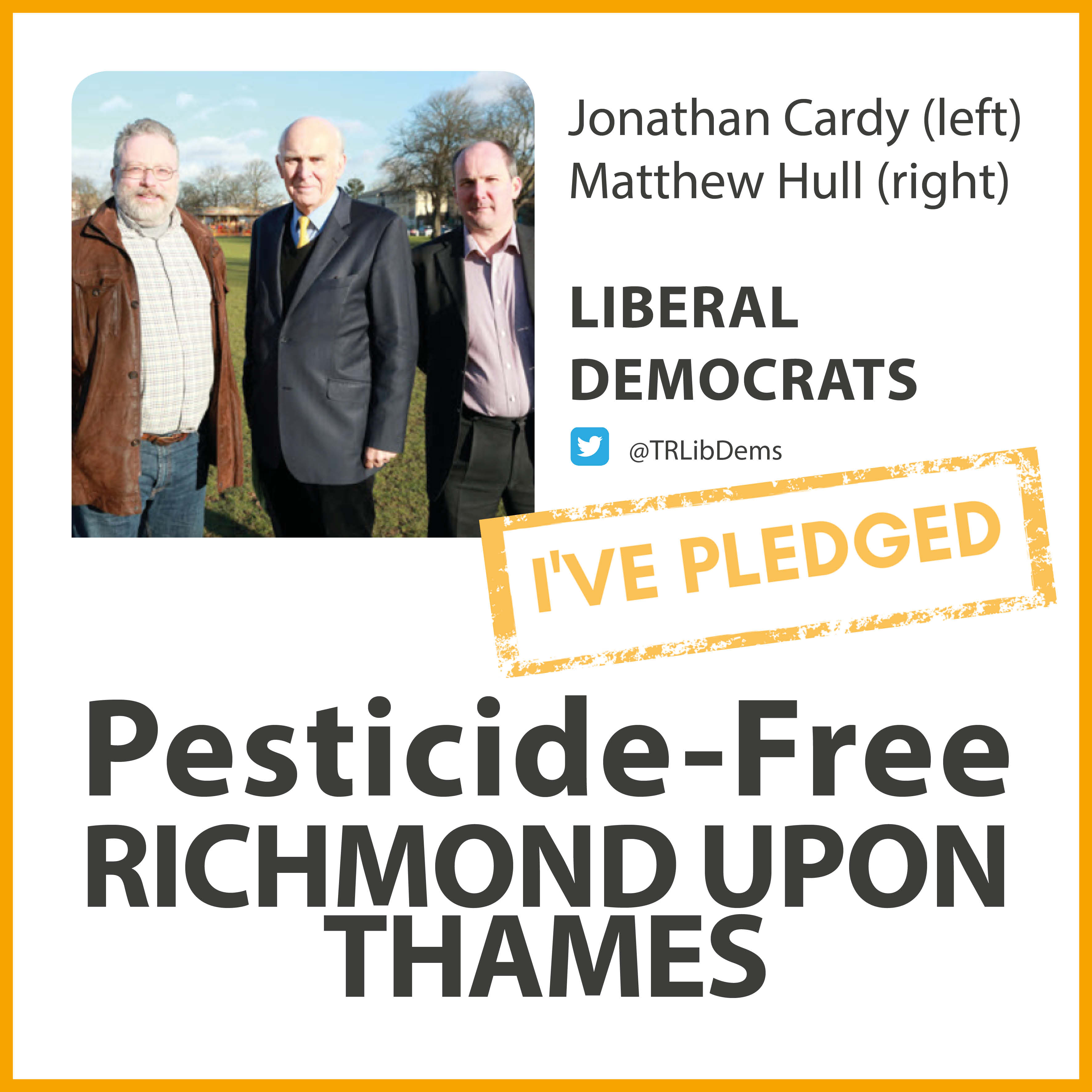 Fulwell and Hampton Hill Lib Dems have taken the pesticide-free pledge