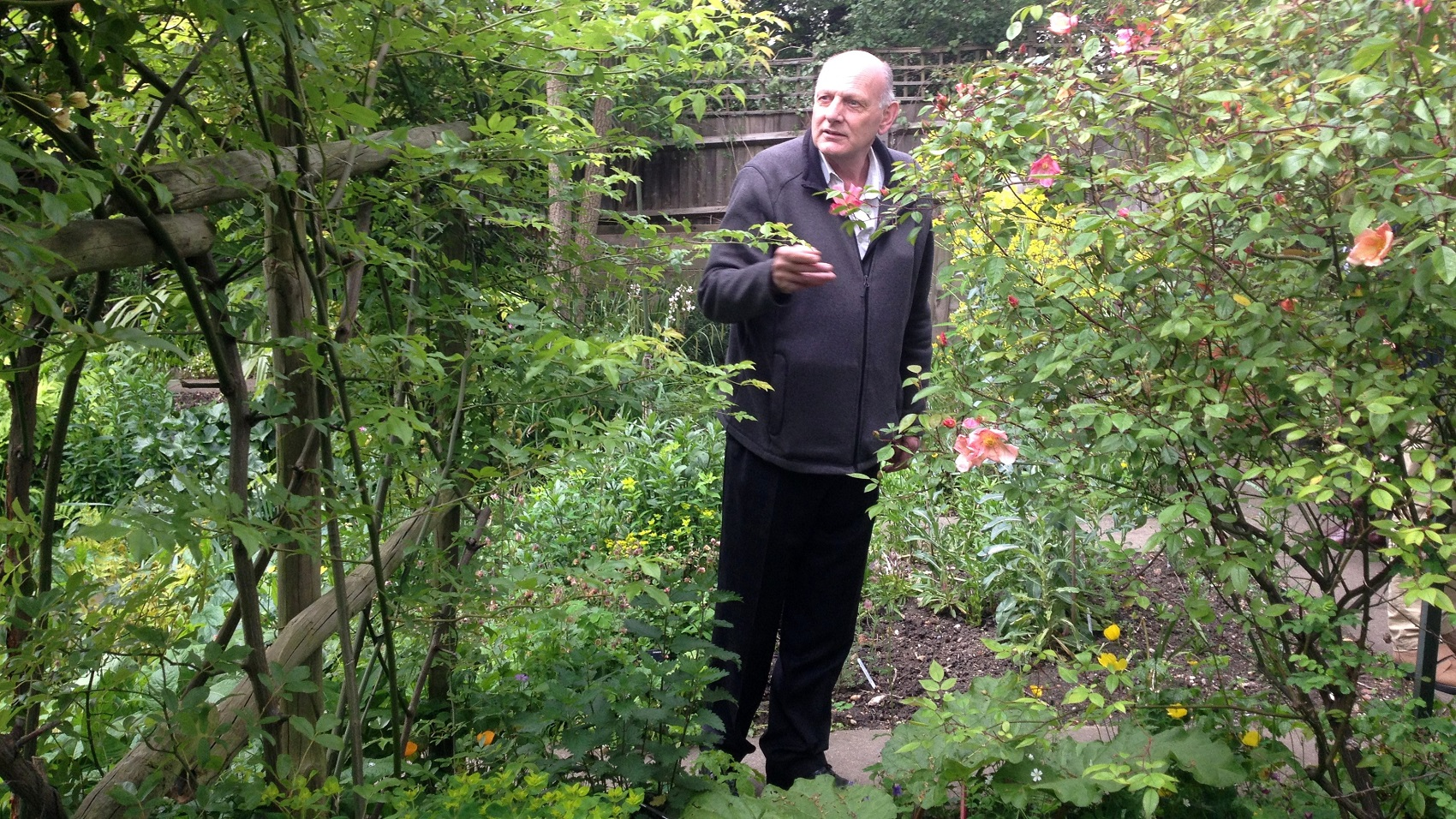 Geoff in the South London Botanical Institute