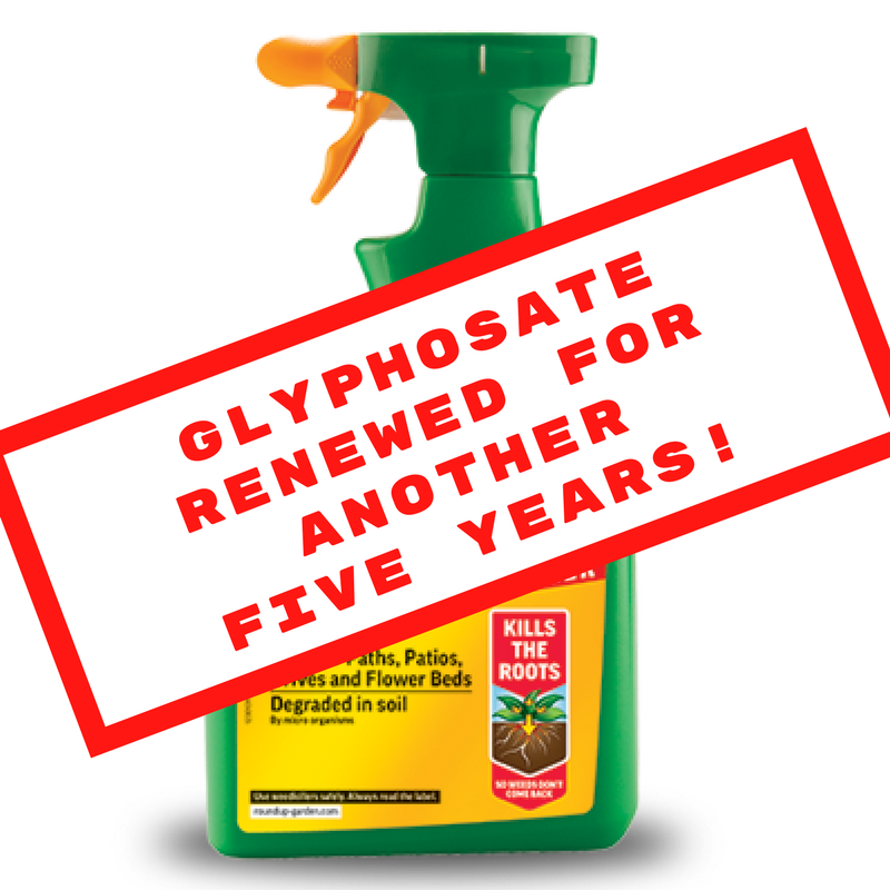 Glyphosate renewed for another five years