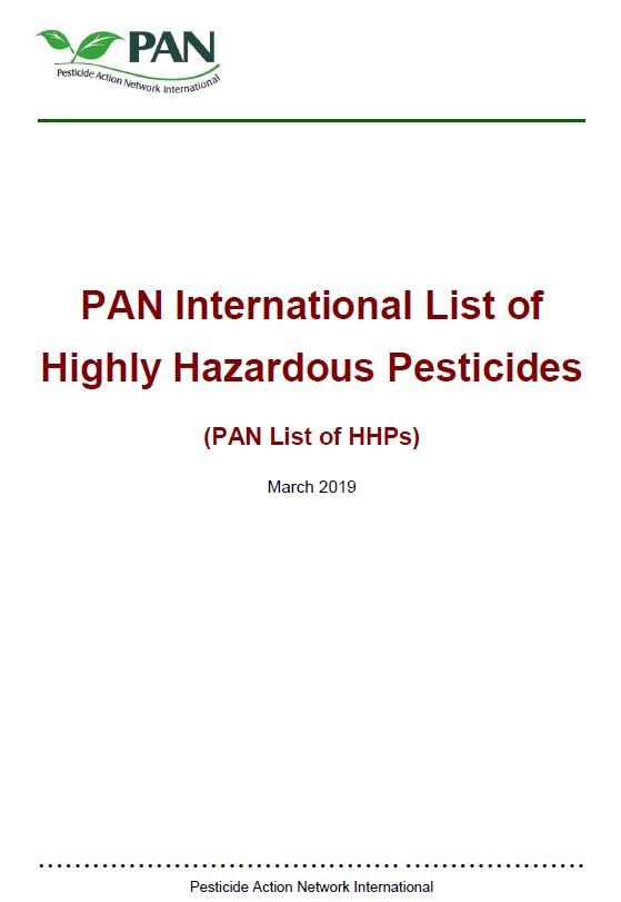 Highly Hazardous Pesticides - March 2019