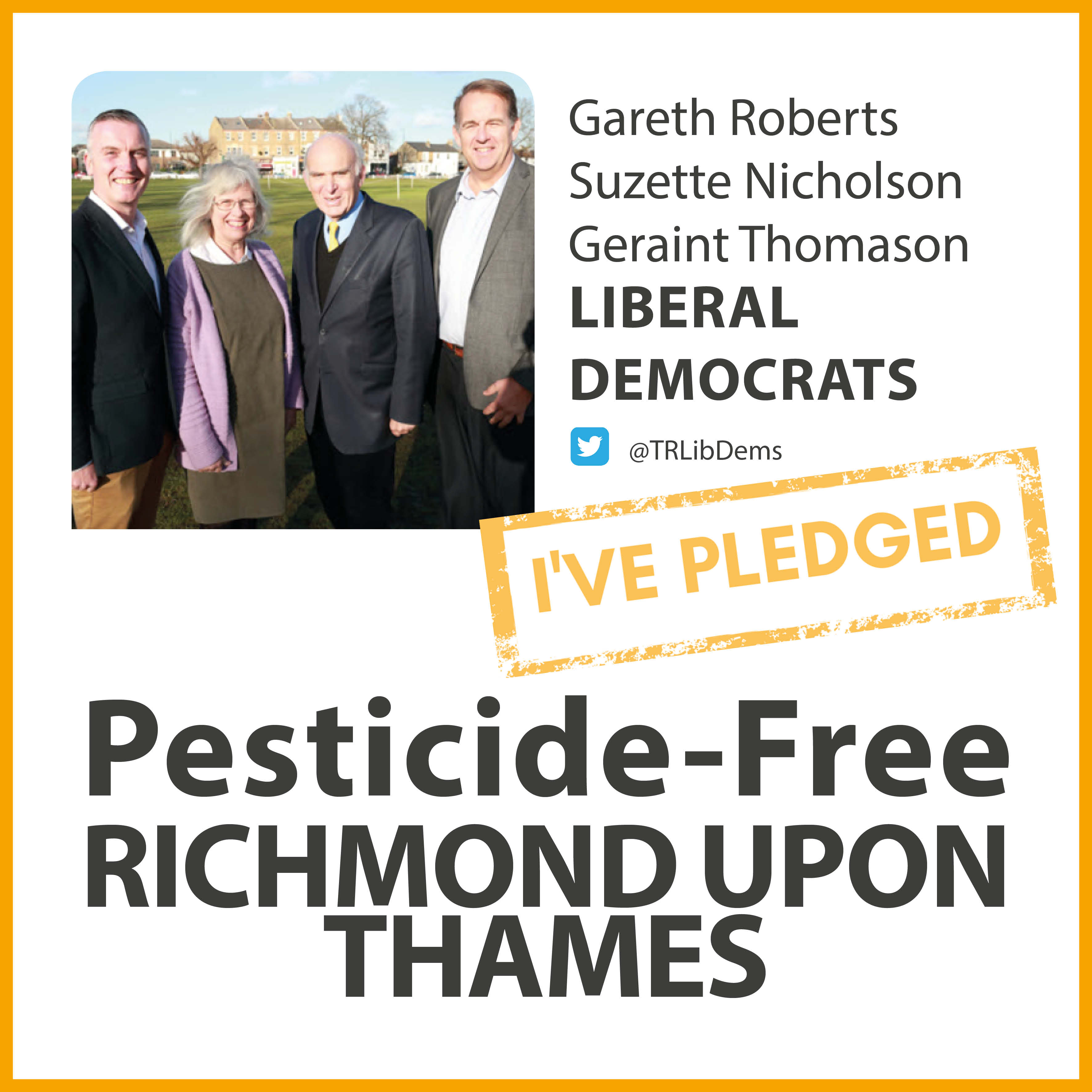 Hampton Lib Dems have taken the pesticide-free pledge