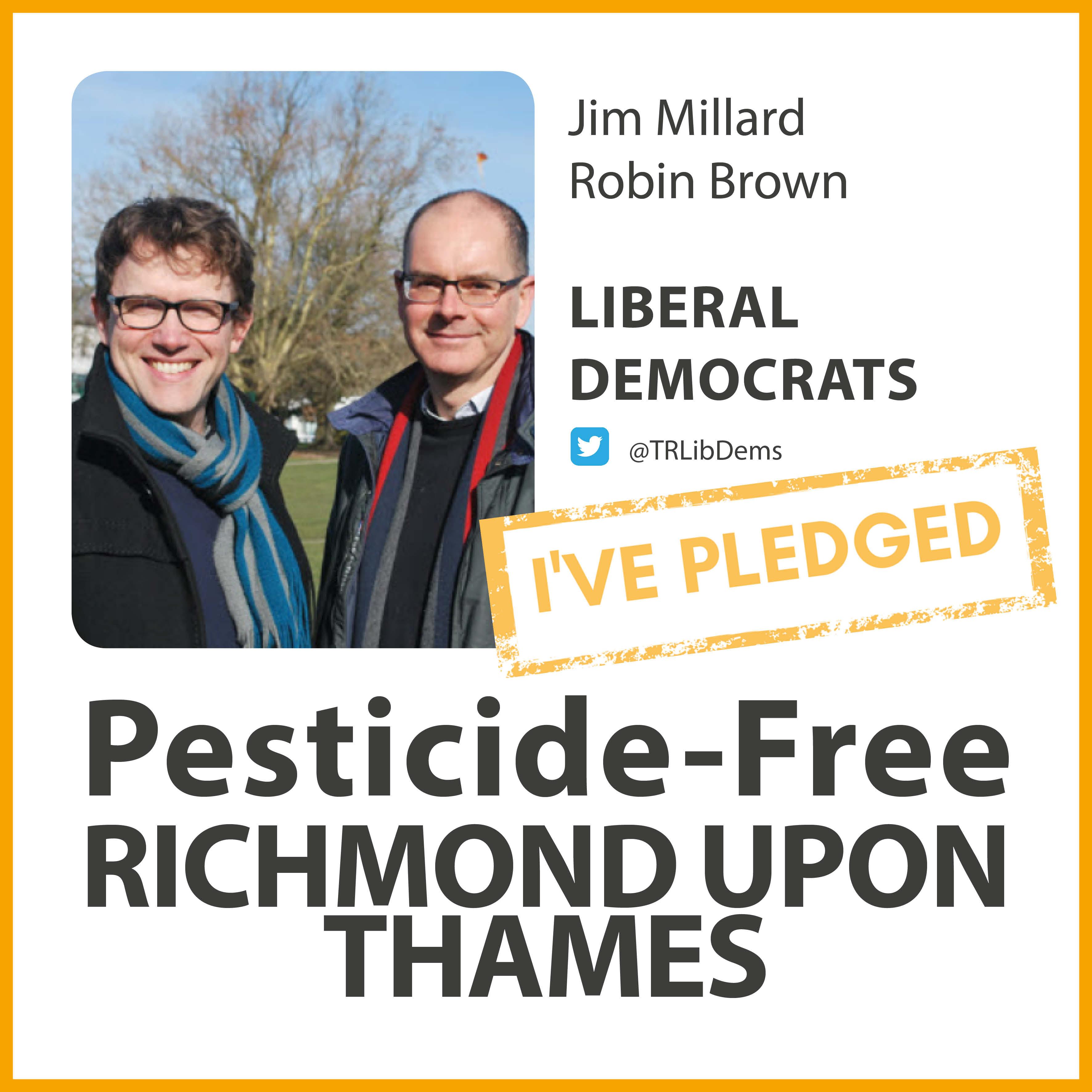 Hampton Wick Lib Dems have taken the pesticide-free pledge