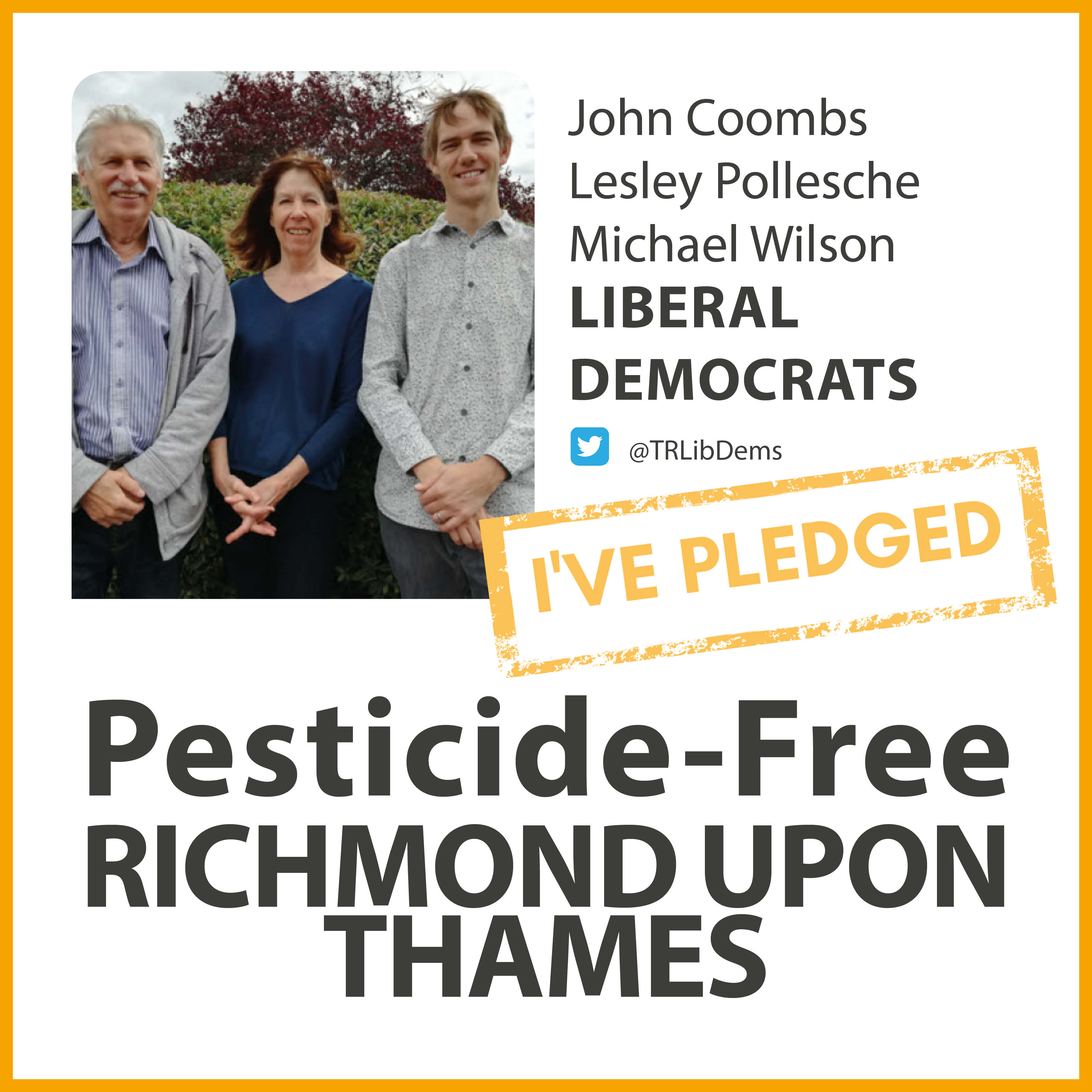 Heathfield Lib Dems have taken the pesticide-free pledge
