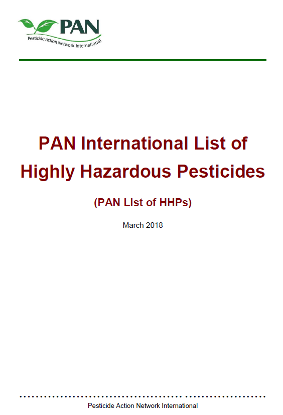 Highly Hazardous Pesticides - March 2018
