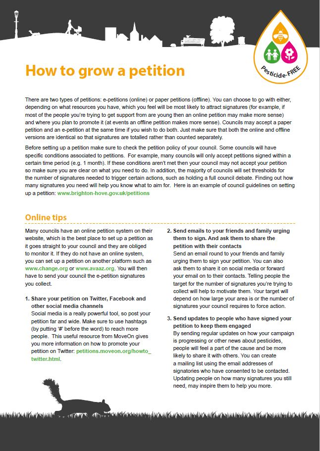 How to grow a petition