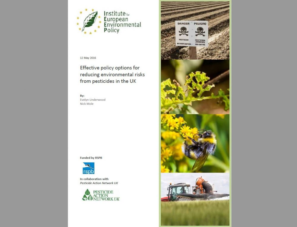 UK Policy Options to Reduce Environmental Risks from Pesticides