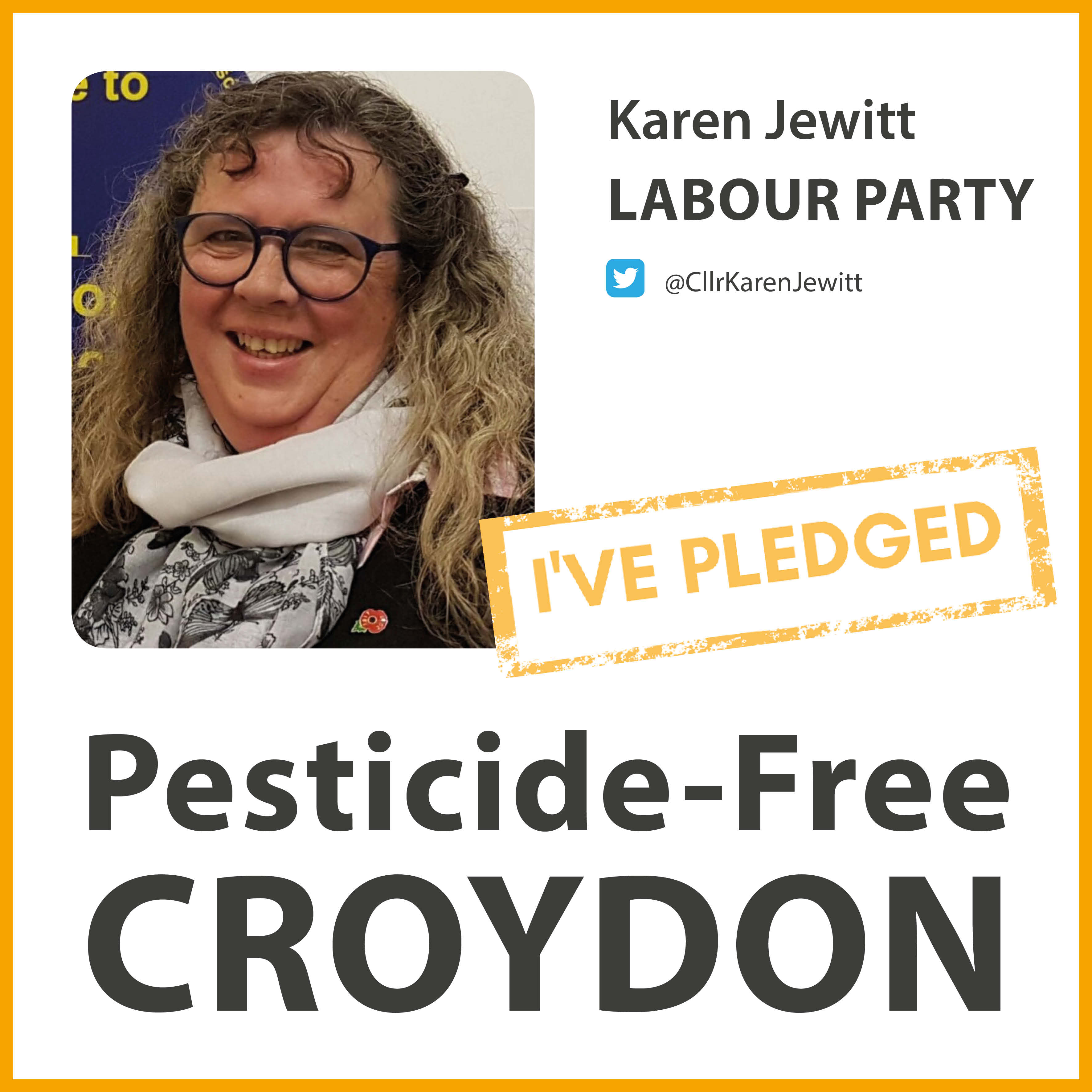 Karen Jewitt has taken the pesticide-free pledge in Croydon