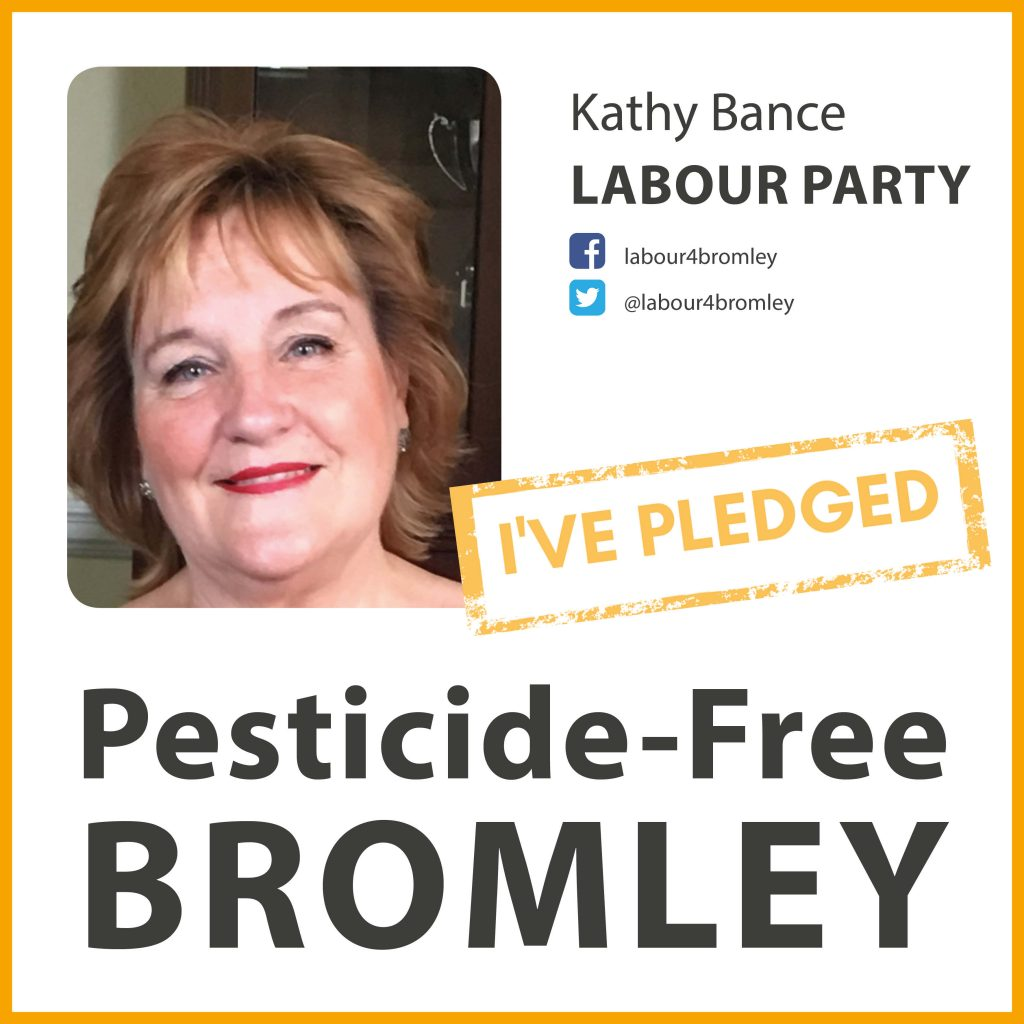 Kathy Bance has taken the pesticide-free pledge in Bromley