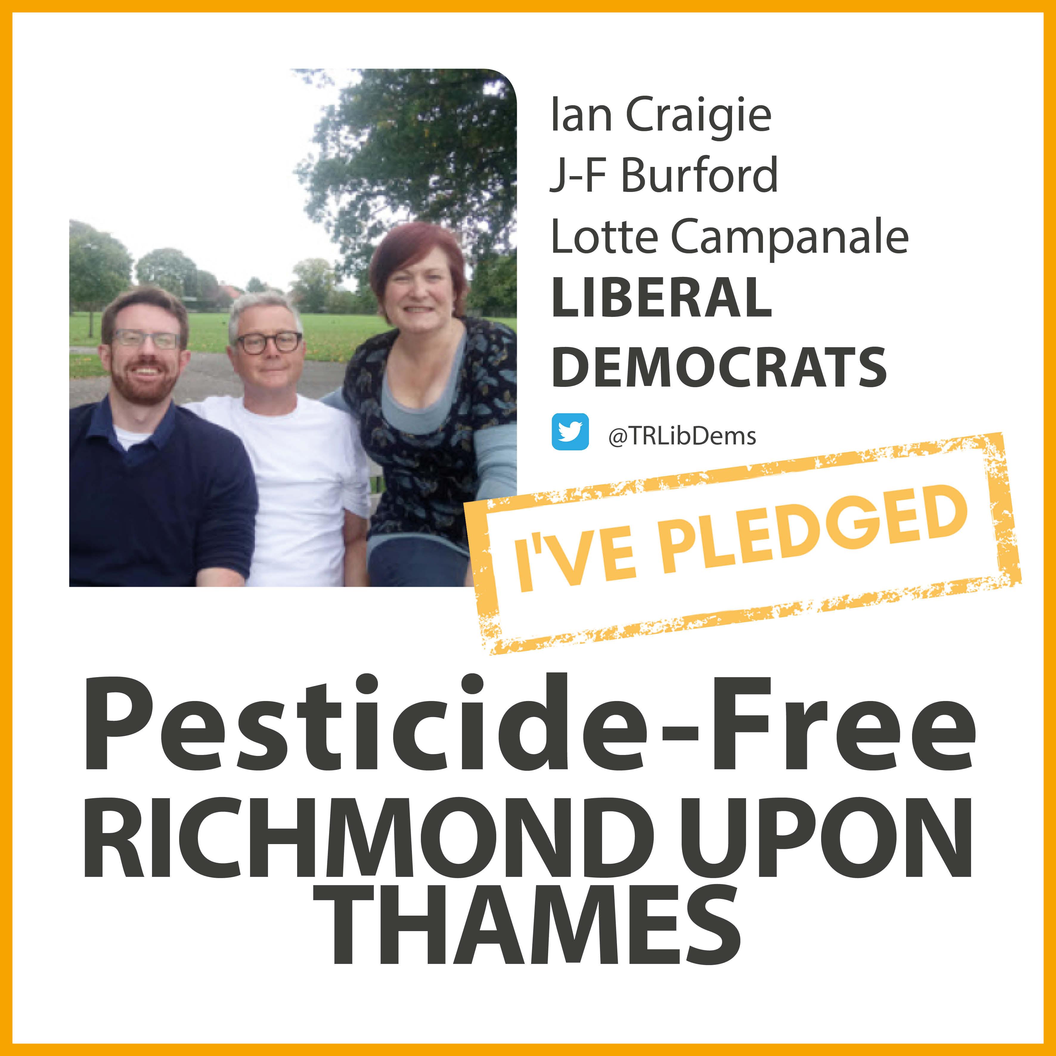 Kew Lib Dems have taken the pesticide-free pledge