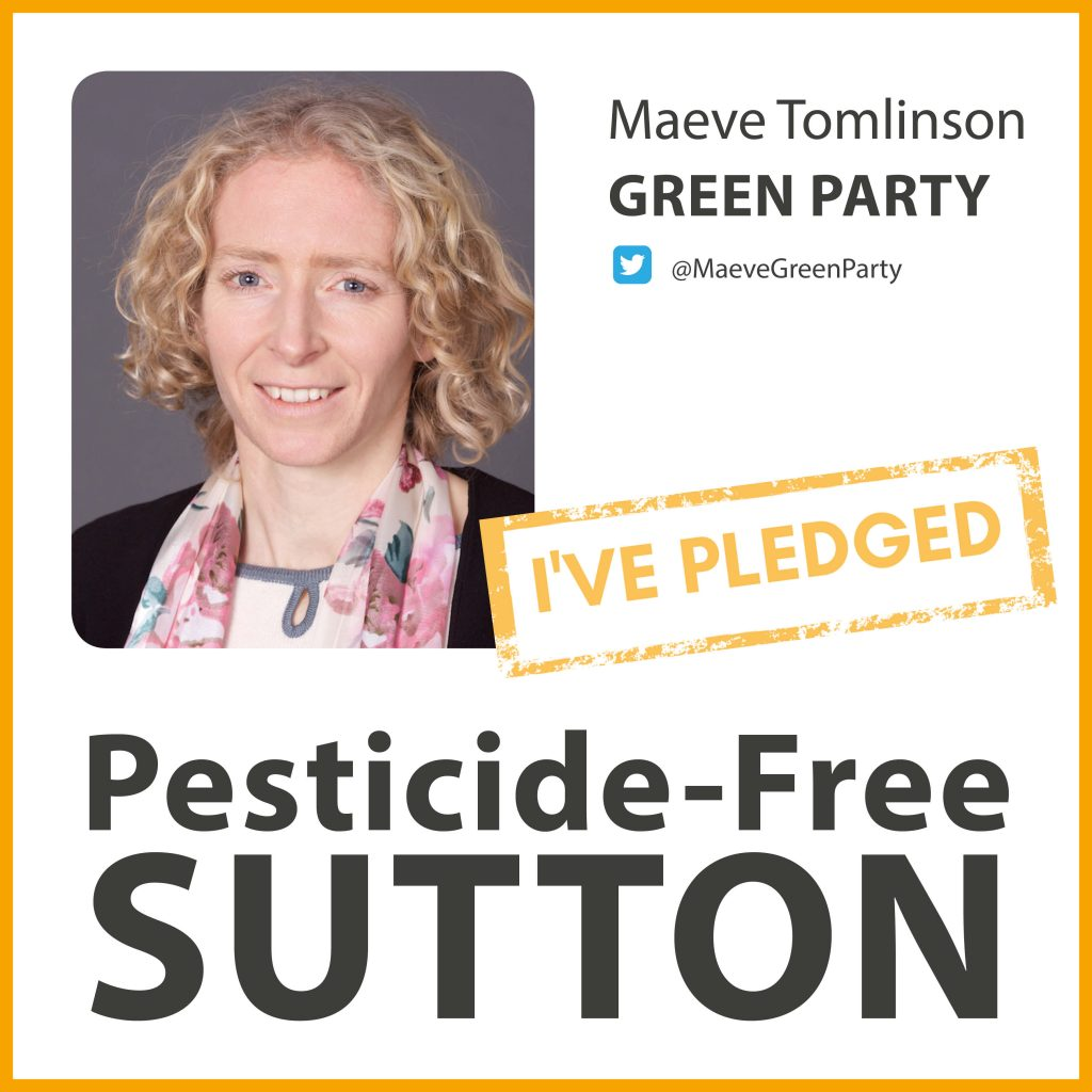 Maeve Tomlinson has taken the pesticide-free pledge in Sutton