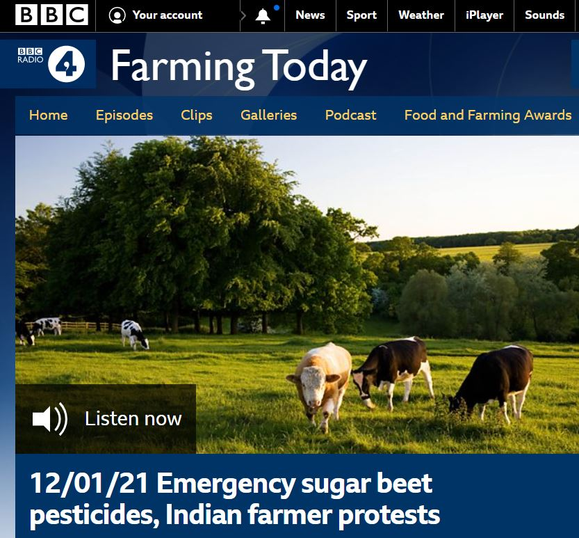 BBC Farming Today - Emergency sugar beet pesticides