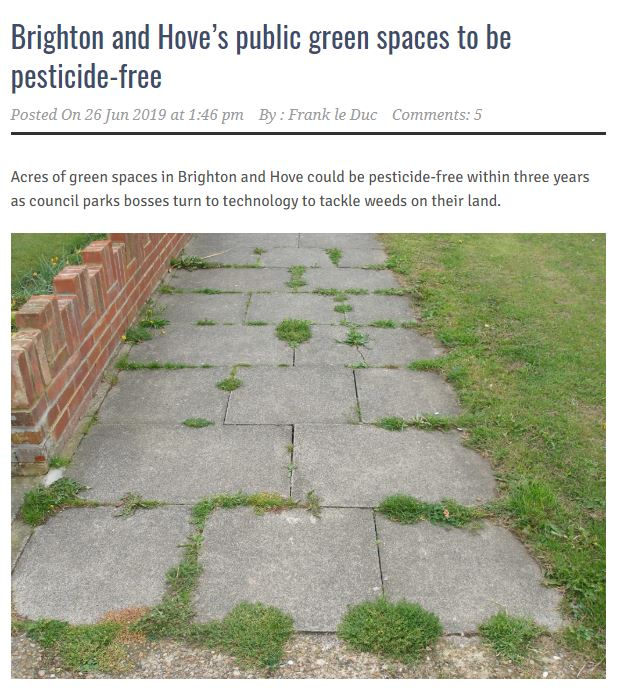 Brighton & Hove public spaces to be pesticide-free