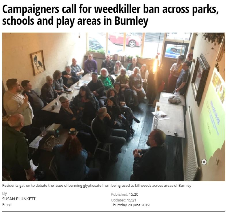 Burnley Express - Campaigners call for weedkiller ban across parks, schools and play areas in Burnley