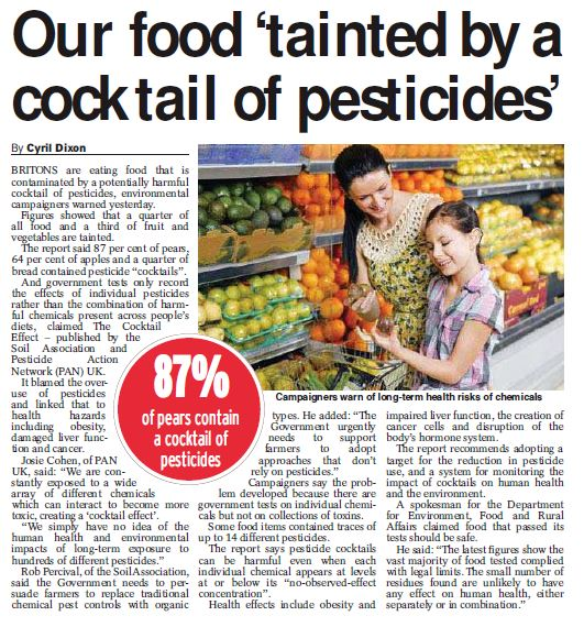 Daily Express (Print) - Our food tainted by cocktail of pesticides
