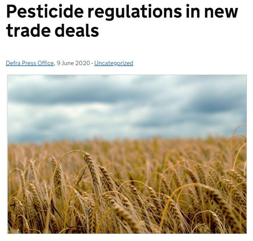 Defra Blog: Pesticide regulations in new trade deals