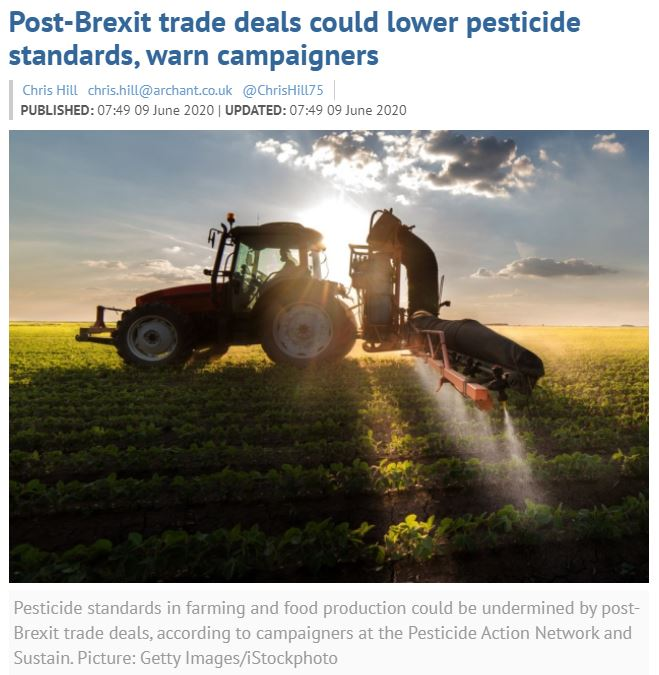 Eastern Daily Press: Post-Brexit trade deals could lower pesticide standards