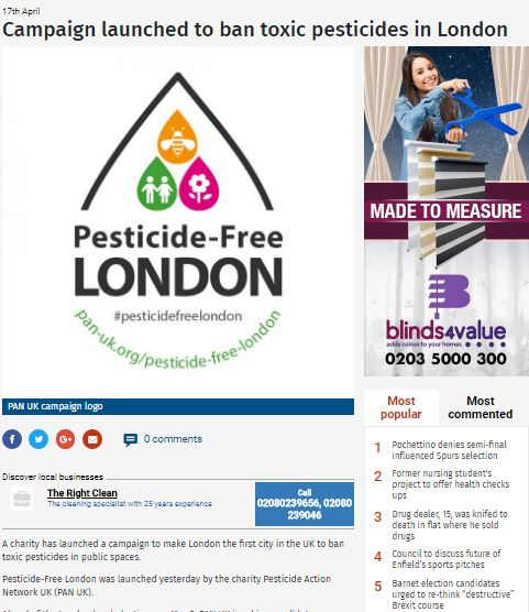 Enfield Independent - Campaign launched to ban toxic pesticides in London