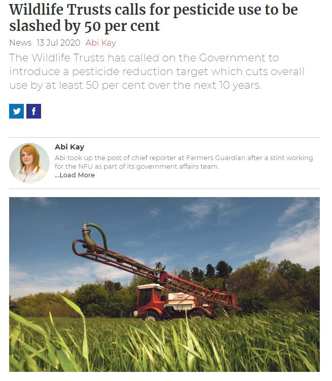 Farmers Guardian - Wildlife Trusts calls for pesticide use to be slashed by 50 per cent