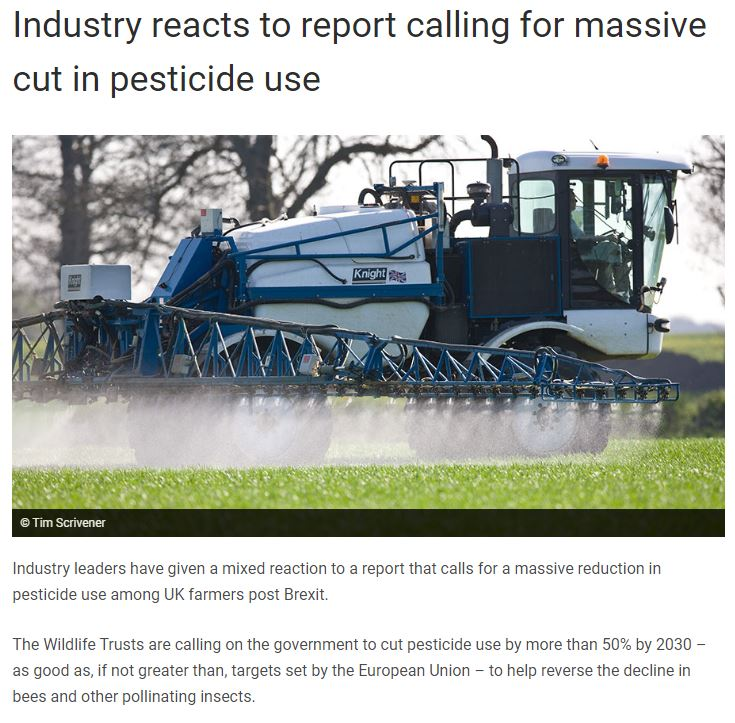 Farmers Weekly: Industry reacts to report calling for massive cut in pesticide use
