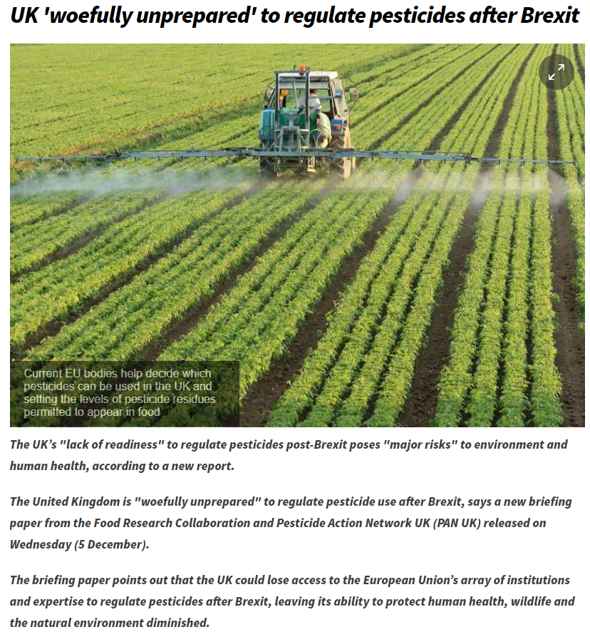 Farming UK - UK woefully unprepared to regulate pesticides after Brexit