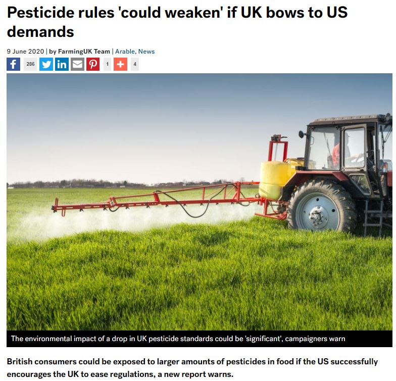 Farming UK: Pesticide rules could weaken if UK bows to US demands
