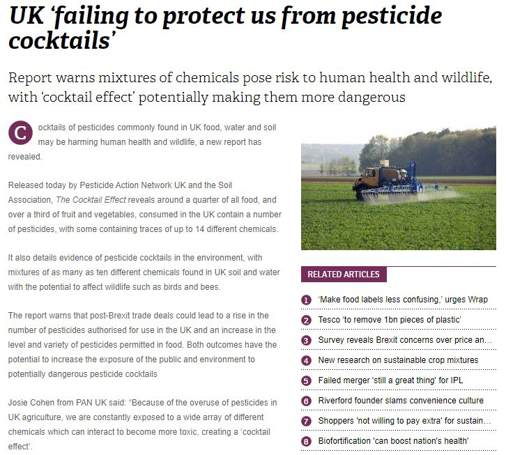 Fresh Produce Journal: UK 'failing to protect us from pesticide cocktails'