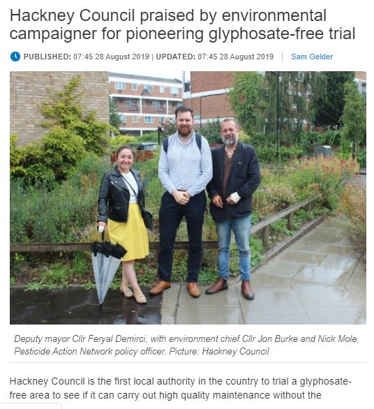 Hackney Gazette - Hackney Council praised by environmental campaigner