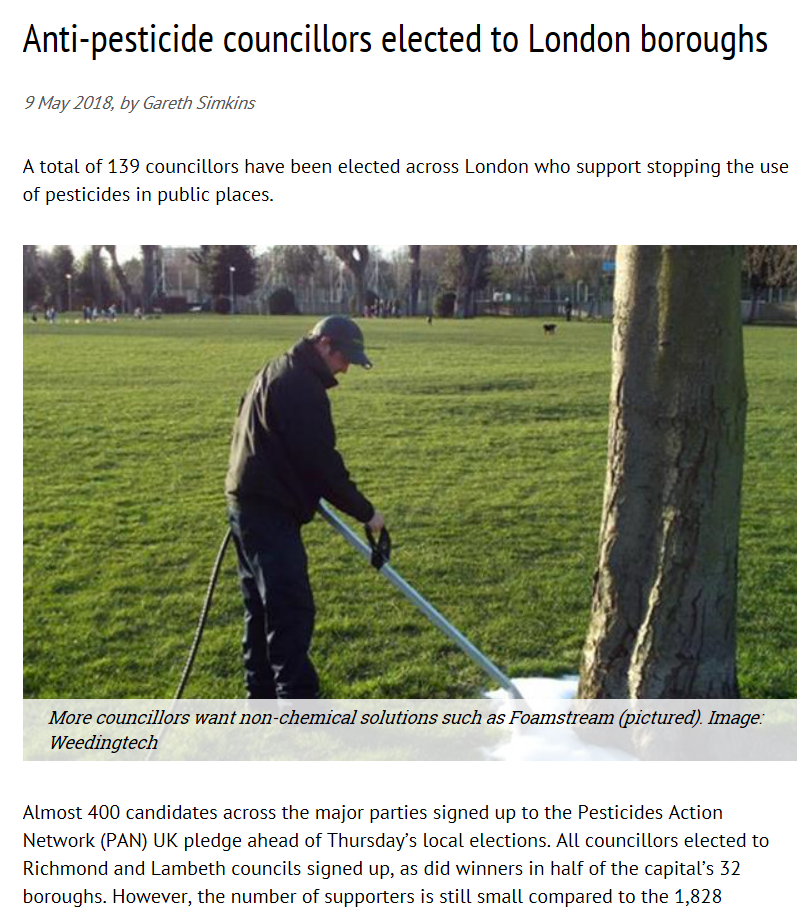 Horticulture Week - Anti-pesticide councillors elected to London boroughs