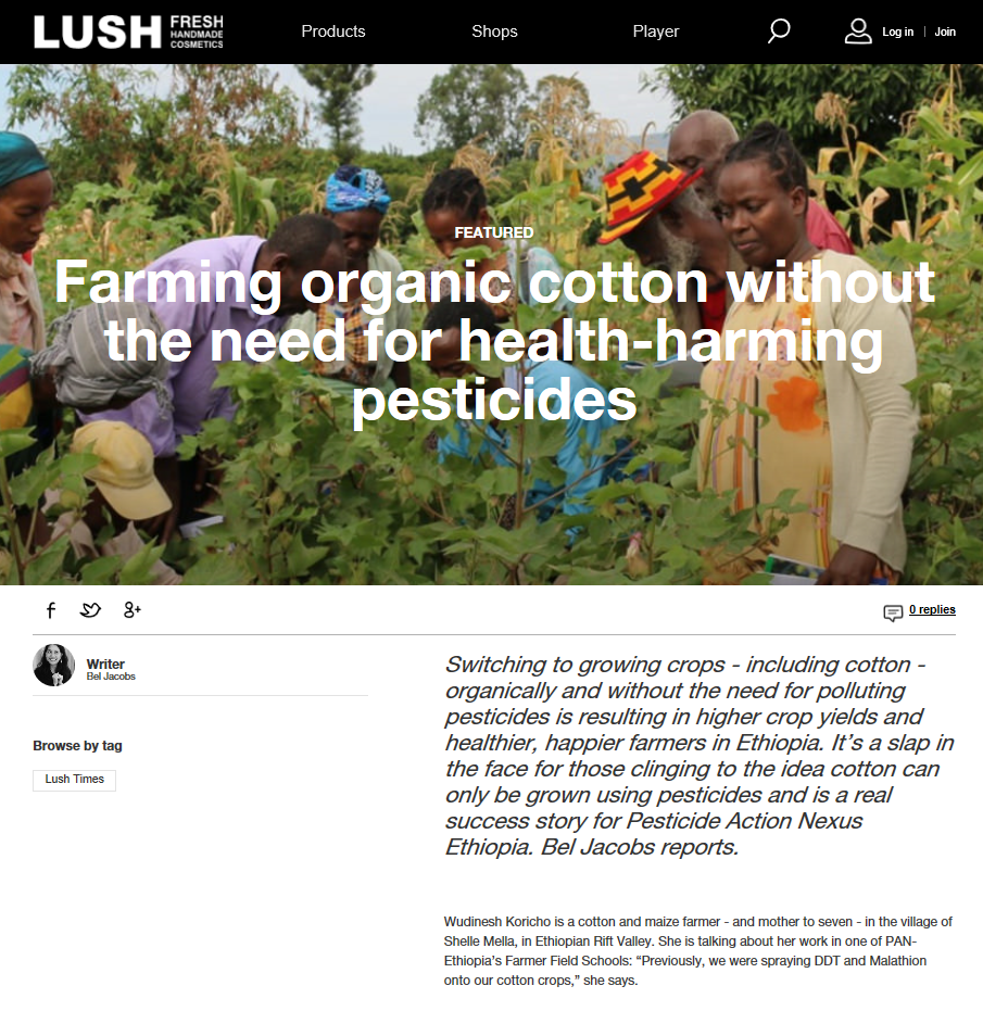 Lush Times - 24th April 2018 - Farming cotton without pesticides