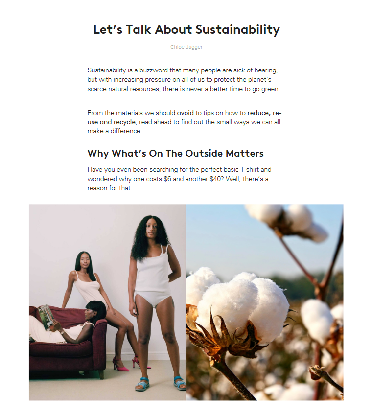 Lyst - 1st May 2018 - Lets talk about sustainability